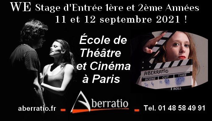 stage audition Ecole de Theatre Paris