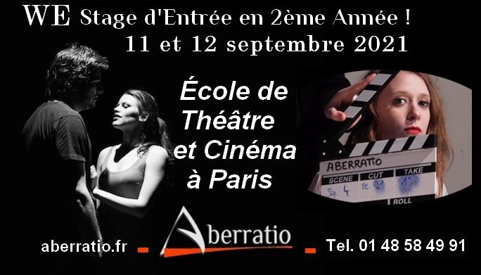 stage d'entrée dans l'école de théâtre et cinéma Aberratio Paris